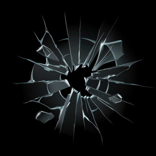 broken window glass broken windshield shattered glass crack windows shards computer screen isolated illustration 102902 1182