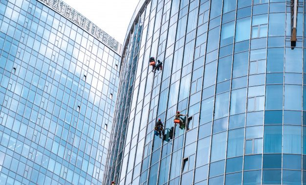 workers washing windows office building 1153 4658